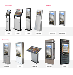 Images of enGAGE 360 Digital Directory & Kiosk Enclosures