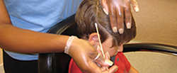 Lice removal in school